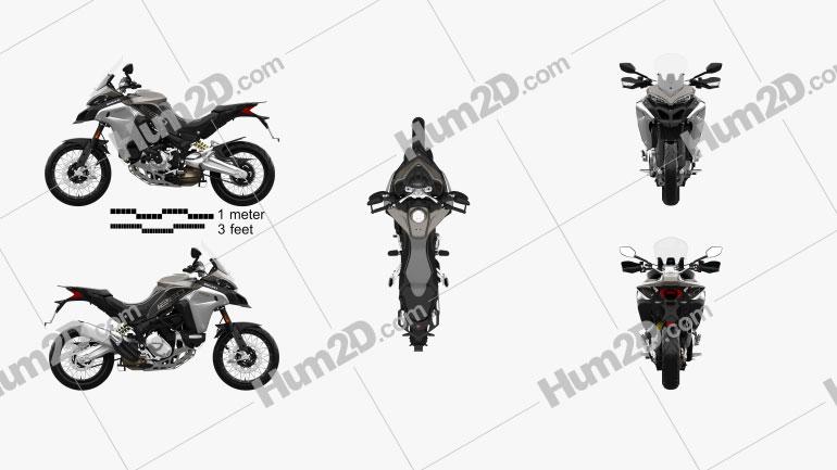 Ducati Multistrada 1260 Enduro 2019 Clipart Image