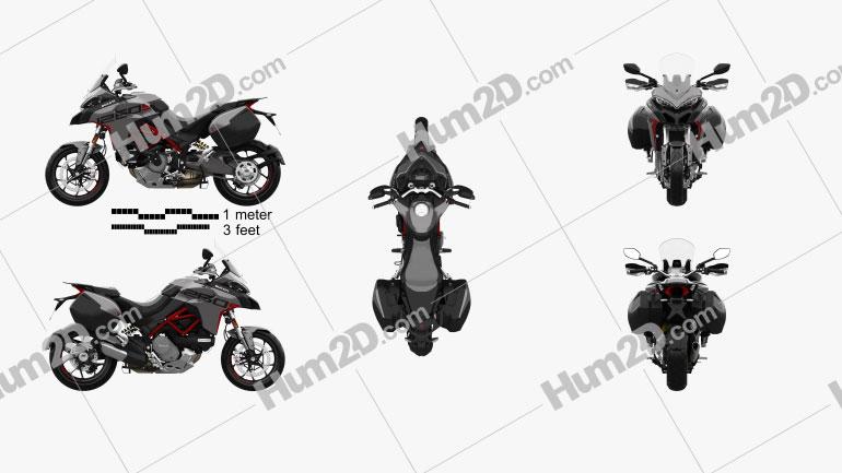 Ducati Multistrada 1260S GrandTour 2020 Motorcycle clipart