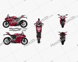 Ducati Panigale V2 2021 Moto clipart