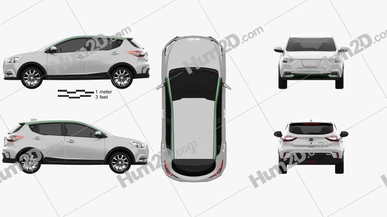 EVO Electric 2020 car clipart