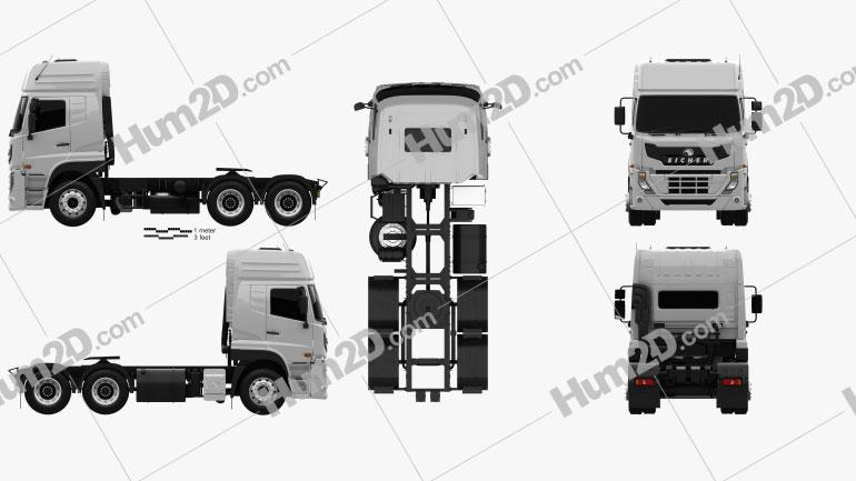 Eicher Pro 8049 Heavy Duty Tractor Truck 2014 clipart