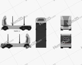 Einride T-log Log Truck 2018 clipart