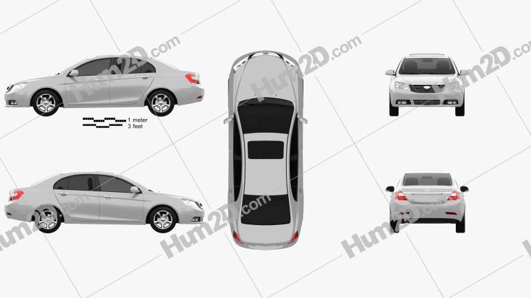 Emgrand EC7 2012 car clipart