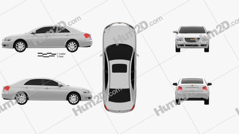 Emgrand EC8 2010 car clipart