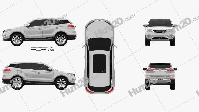Emgrand Boyue 2016 car clipart