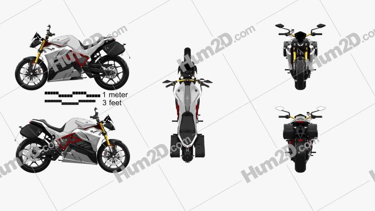 Energica Eva 2019 Motorcycle clipart