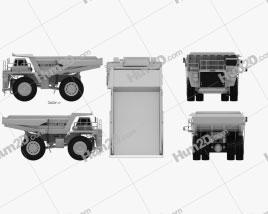 Euclid R130 Dump Truck 1991