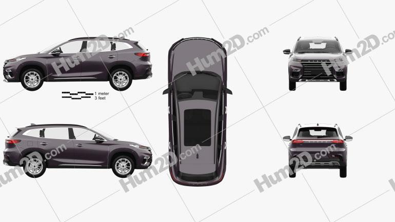 Exeed TXL 2019 car clipart