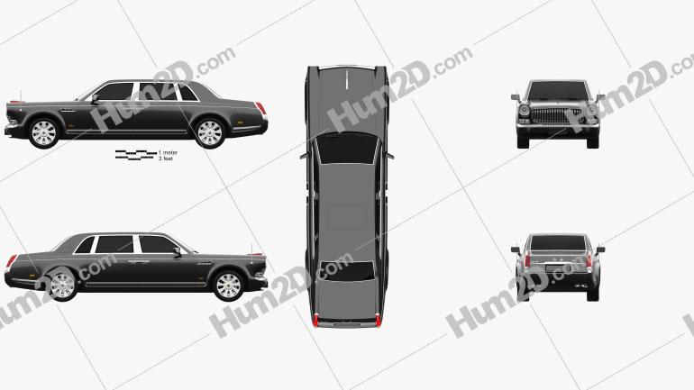 FAW Hongqi HQE 2010 car clipart