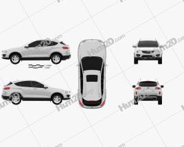 FAW Besturn X80 SUV car clipart