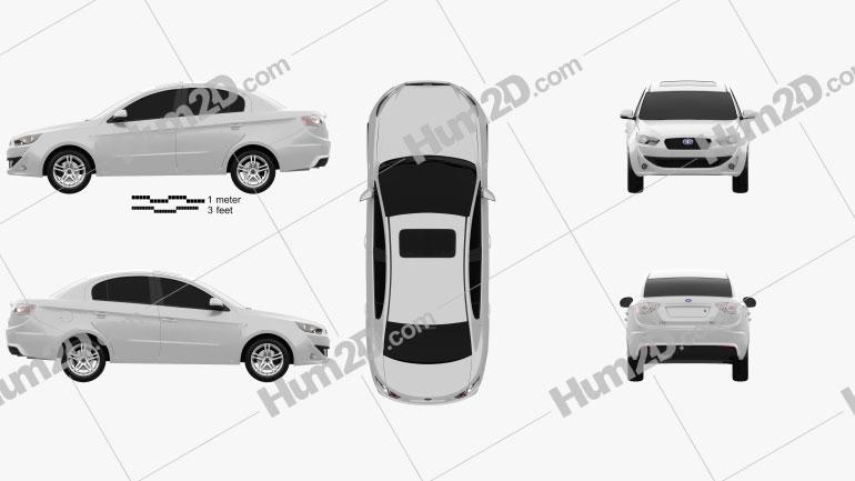 FAW Oley sedan 2014 car clipart