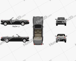 FAW Hongqi L5 Cabriolet 2015 car clipart