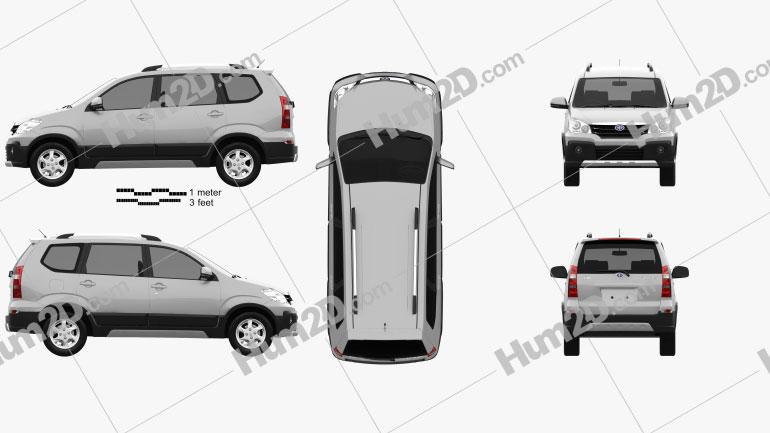 FAW Sirius S80 2012 car clipart