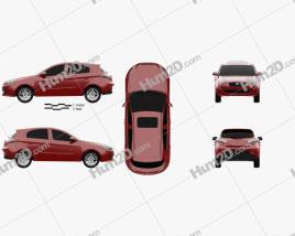 FAW Oley 5-door hatchback 2014 Clipart