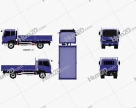 FAW J5K Camião de plataforma 2011 clipart