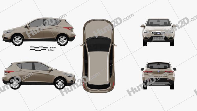 FAW Junpai D60 2014 car clipart