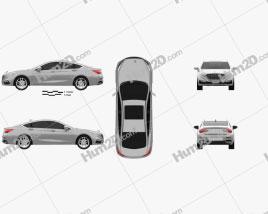 FAW Hongqi H5 2018 car clipart
