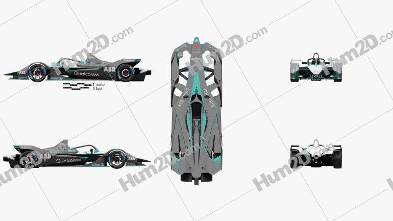 FIA Gen2 Formula E 2019 Clipart Image
