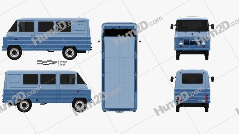 FSC Zuk (A07) Van 1975 clipart