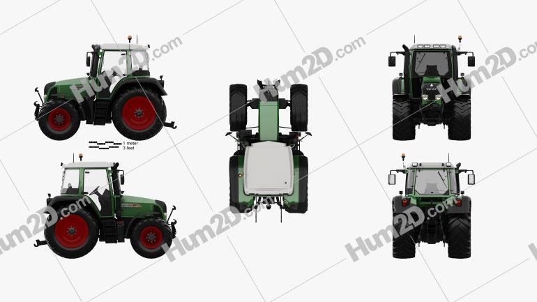Fendt 412 Vario TMS 2016 Tractor clipart