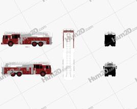 Ferrara Ultra HD-100 Rear Mount Aerial Ladder Firetruck 2013 clipart