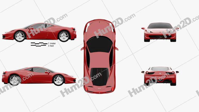Ferrari 458 Italia car clipart