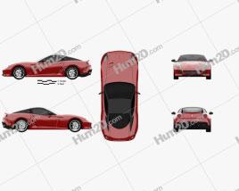 Ferrari 599 GTO 2011 car clipart