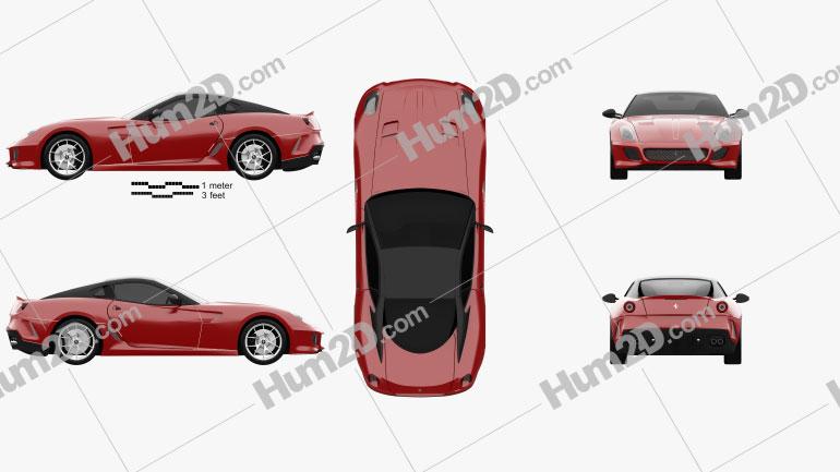 Ferrari 599 GTO 2011 Clipart Image