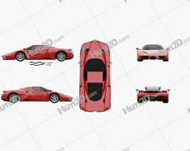Ferrari Enzo 2002 car clipart