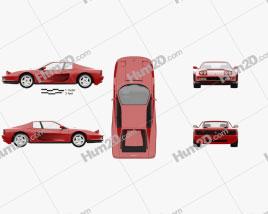 Ferrari Testarossa 1986 car clipart