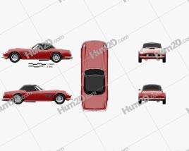 Ferrari 250 GT California Spider 1958 car clipart