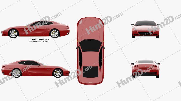 Ferrari 612 Scaglietti 2006 car clipart