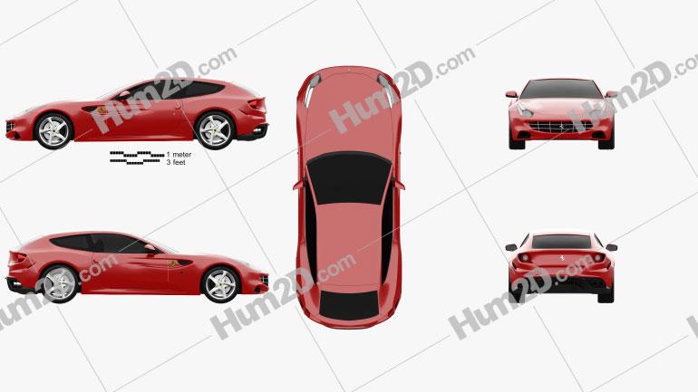Ferrari FF 2011 Clipart Image