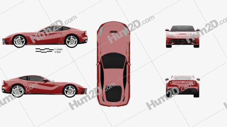 Ferrari F12 Berlinetta 2012 car clipart