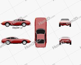 Ferrari 365 Daytona GTB/4 1968-1973 car clipart