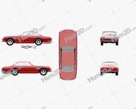 Ferrari 330 GT 1965 car clipart