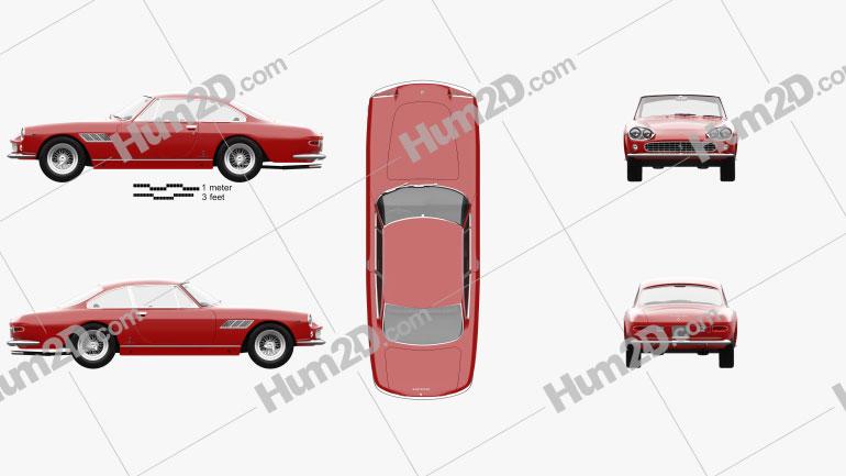 Ferrari 330 GT 1965 Clipart Image