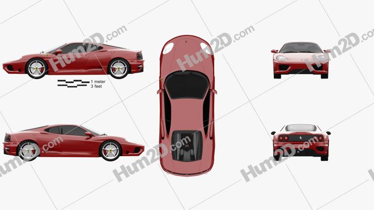 Ferrari 360 Modena 2005 Clipart Image
