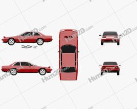 Ferrari 412 1985 car clipart