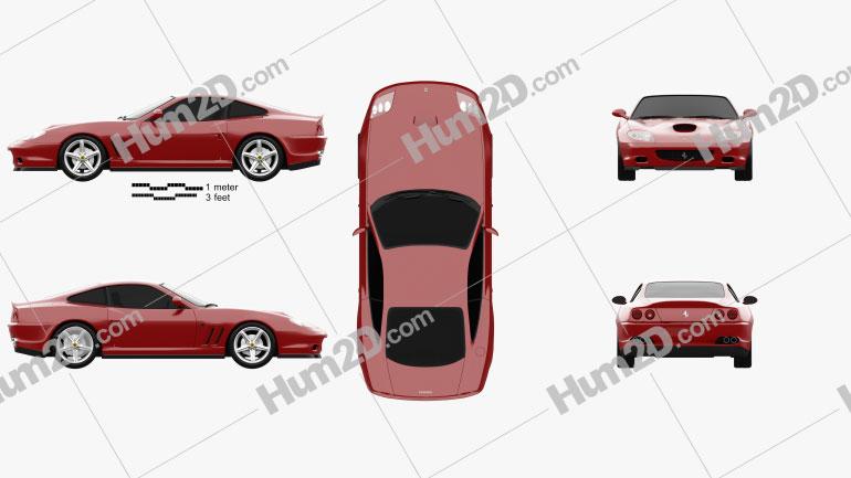 Ferrari 575M Maranello 2005 Clipart Image