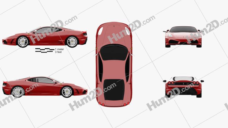 Ferrari F430 Scuderia 2009 car clipart