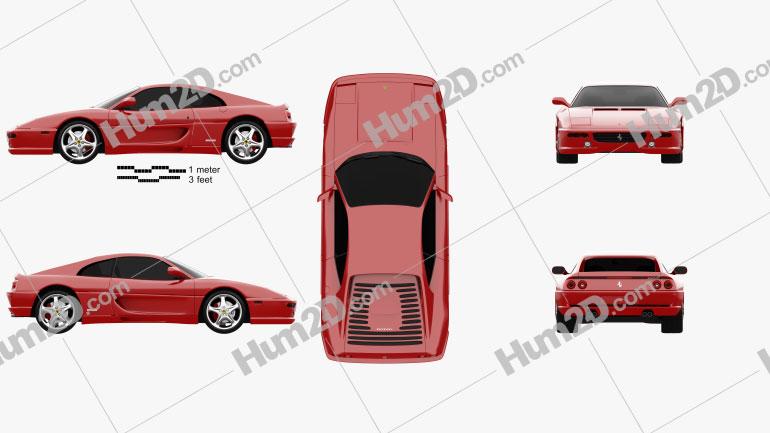 Ferrari F355 F1 Berlinetta 1999 car clipart
