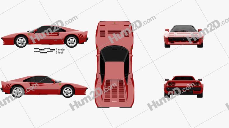 Ferrari 288 GTO 1984 Clipart Image