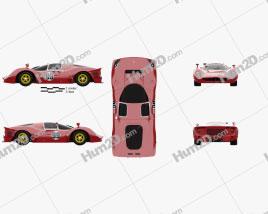 Ferrari 330 P4 1967 car clipart