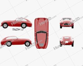 Ferrari 166 Inter Berlinetta 1950 car clipart
