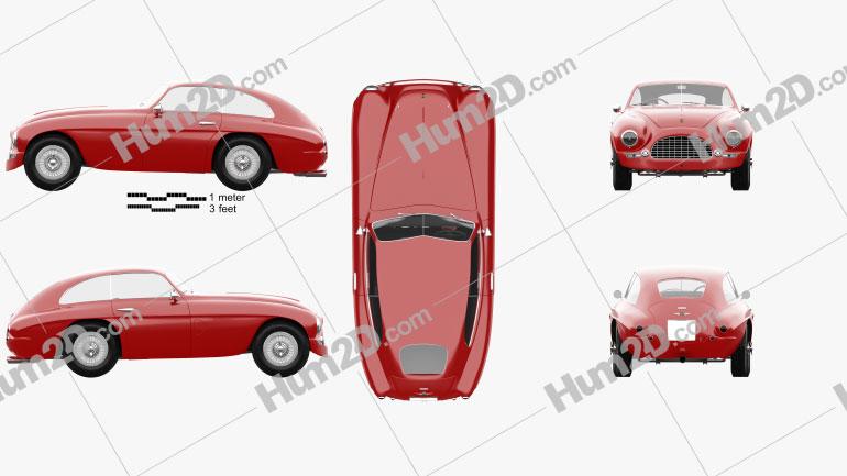 Ferrari 166 Inter Berlinetta 1950 Clipart Image