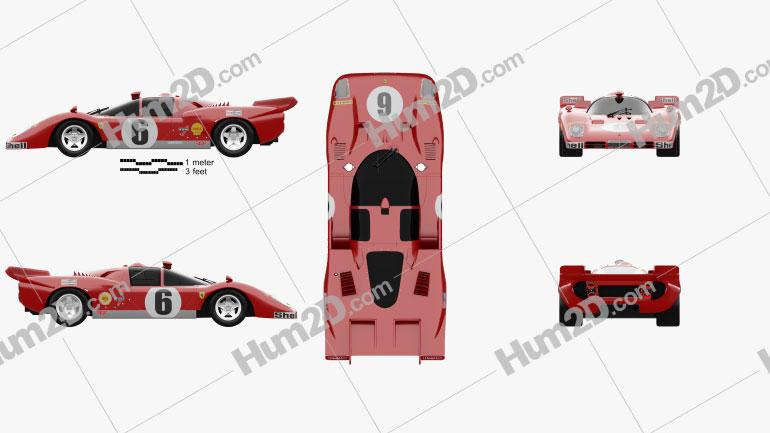 Ferrari 512 S 1970 car clipart