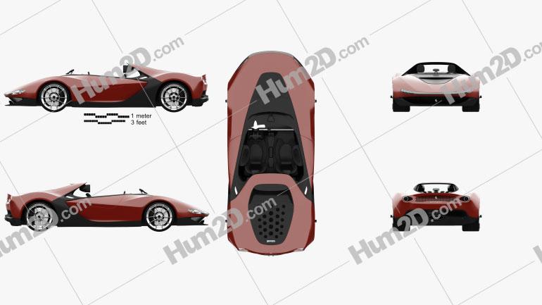 Ferrari Pininfarina Sergio 2013 car clipart