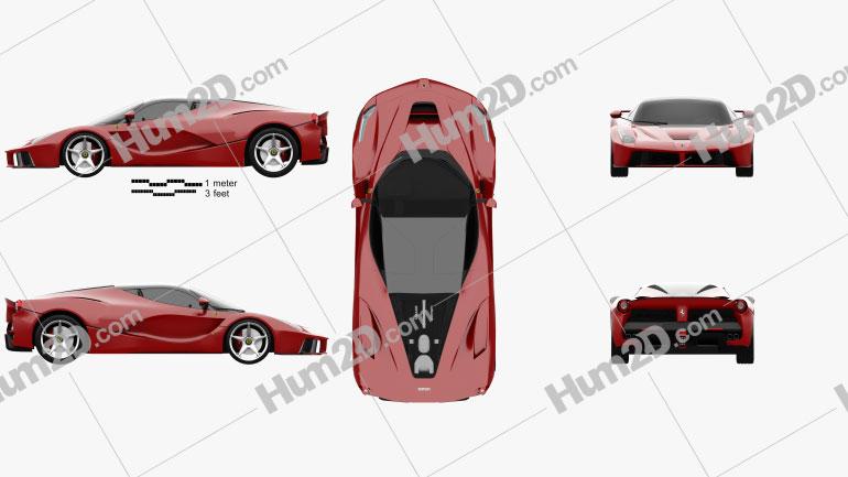 Ferrari F70 LaFerrari 2014 Clipart Bild