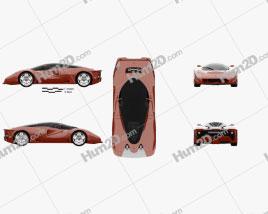 Ferrari P4/5 Pininfarina 2006 car clipart